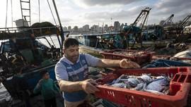 FOTO: Nelayan Gaza Mulai Melaut Usai Gencatan Senjata