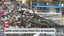 VIDEO: Sampah Aliran Ciliwung Penuhi Pintu Air Manggarai