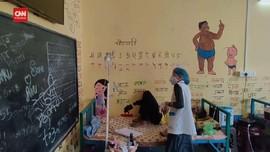 VIDEO: Ruang Kelas di India Disulap Jadi Bangsal Covid-19