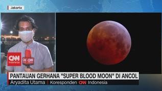 VIDEO: Pantauan Gerhana 'Super Blood Moon' di Ancol