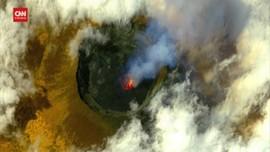 VIDEO: Kondisi Kawah Gunung Kongo Sebelum dan Sesudah Erupsi