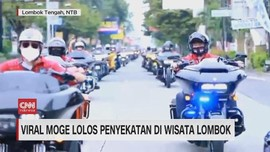 VIDEO: Viral Moge Lolos Penyekatan di Wisata Lombok