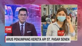 VIDEO: Arus Penumpang Kereta Api St. Pasar Senen
