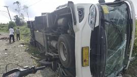 Kecelakaan Bus di Jalintim Muba Sumsel, 4 Orang Tewas