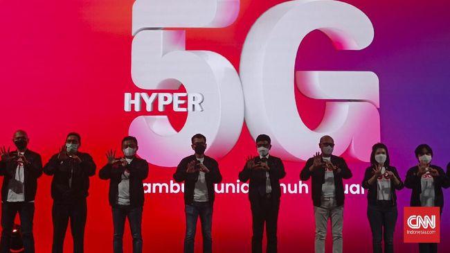 Telkomsel meluncurkan jaringan internet 5G atau generasi 5 perdana di Indonesia Kamis, (27/5).