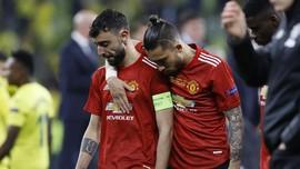 Fernandes Menangis Usai Man Utd Kalah di Liga Europa