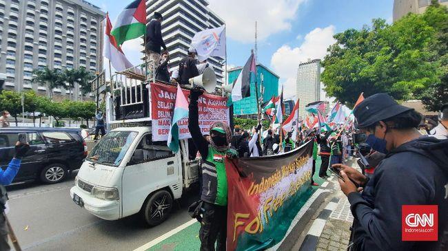 Buruh dari GPMI meminta Pemerintah RI keluar dari keanggotaan jika PBB tak melakukan tindakan konkret terhadap Israel.