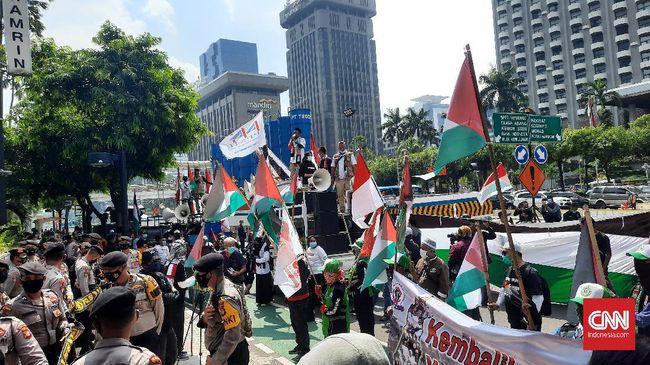 Aksi mendukung Palestina kali ini bakal dipusatkan di sekitar Patung Kuda dan Kantor Kedubes Amerika Serikat.