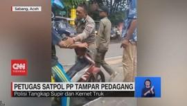 VIDEO: Petugas Satpol PP Tampar Pedagang