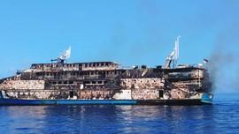 Kapal Terbakar di Sanana Maluku Utara, 181 Penumpang Selamat