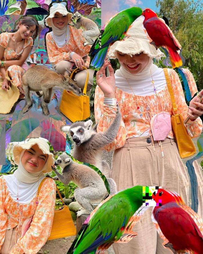 Selain jago makeup, wanita cantik yang satu ini juga ahli dalam urusan mix and match pakaian. Seperti potretnya kali ini, ia memadukan sabrina top dengan kulot berwarna latte lengkap dengan bucket hat. Potret ini diambil saat Nadya liburan bersama sang kakak di Bali. (Instagram.com/nadyaaisha)