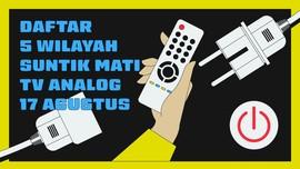 INFOGRAFIS: Daftar 5 Wilayah Suntik Mati TV Analog Tahap I
