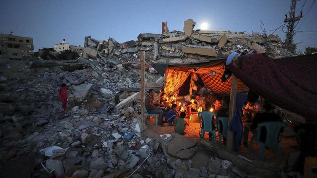 WHO menyebut 200 ribu warga Palestina membutuhkan bantuan kesehatan usai konflik antara Hamas dengan militer Israel habis Lebaran 2021 lalu.