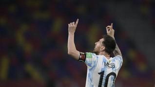FOTO: Gol Messi Tak Cukup Bawa Argentina Menang