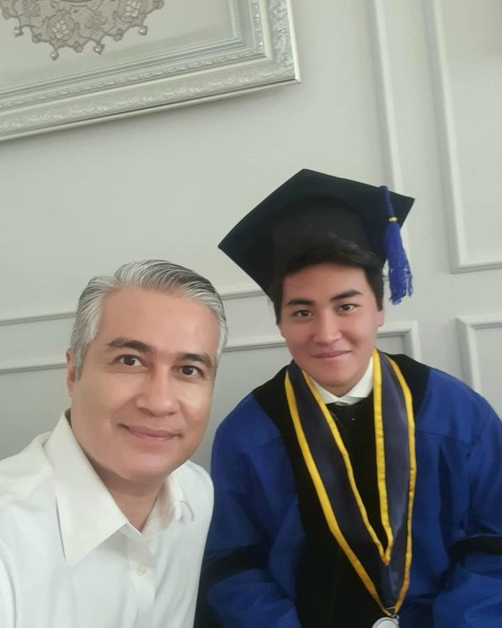 Adjie Pangestu dan putranya, Rafi Pangestu