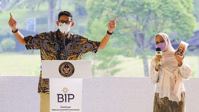 Bantuan Insentif Pemerintah (BIP) dinilai sebagai terobosan yang dapat menjadi salah satu solusi, terlebih bagi pelaku pariwisata dan ekonomi kreatif.