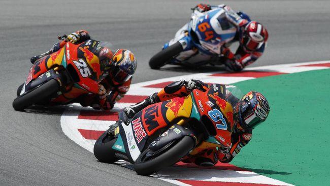 Pembalap KTM Remy Gardner menang Moto2 Catalunya 2021 setelah mengalahkan rekan setimnya, Raul Fernandez.
