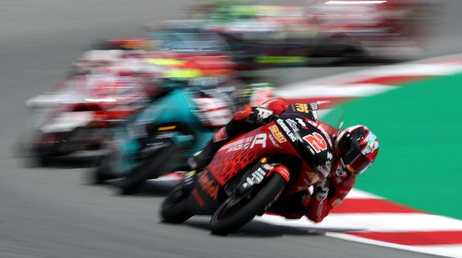 Pembalap Indonesia Gresini, Gabriel Rodrigo menempati posisi kedua saat tes bebas kedua (FP2) Moto3 Jerman.