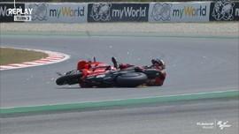 VIDEO: Momen Miller Jatuh di Kualifikasi MotoGP Catalunya