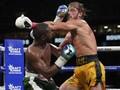 FOTO: Mayweather vs Logan Paul di Laga Tinju Ekshibisi