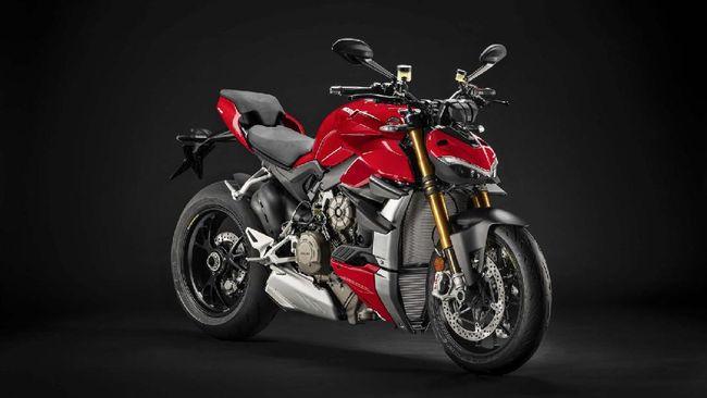 Moge Ducati yang ditilang polisi karena dikira memakai knalpot modifikasi hingga berisik adalah Streetfighter V4S.