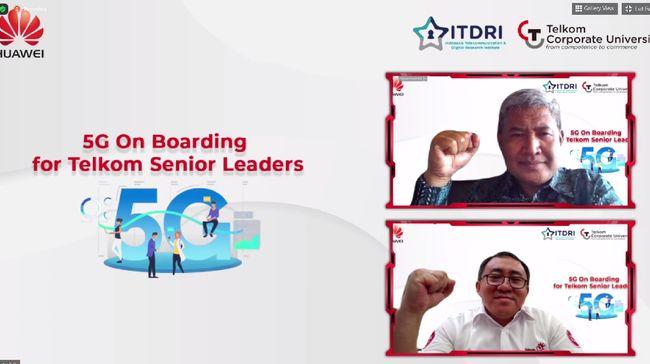ITDRI bersama Huawei ASEAN menggelar acara '5G On Boarding for Telkom Senior Leaders' sebagai bentuk implementasi MoU kedua belah pihak yang dijalin Maret lalu.