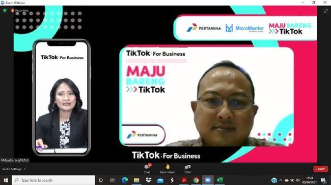 Pertamina mendukung penguatan literasi digital UMKM dengan terlibat sebagai narasumber pada sesi Strategi Digital Marketing dalam program #MajuBarengTikTok.