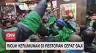 VIDEO: Ricuh Kerumunan di Restoran Cepat Saji