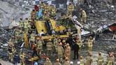 etidaknya sembilan penumpang bus tewas akibat insiden bangunan runtuh di Korea Selatan pada Rabu (9/6).