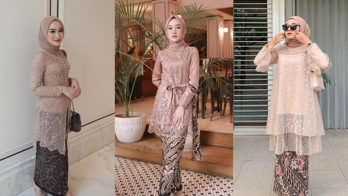 6 Inspirasi Model Kebaya Nuansa Warna Nude untuk Hijabers, Cocok buat Kondangan