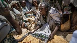 FOTO: Bayang-bayang Hitam Kelaparan di Ethiopia