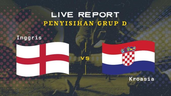 Timnas Inggris menang 1-0 atas Kroasia di laga perdana Grup D Euro 2020 (Euro 2021). Sampai jumpa di live report berikutnya.