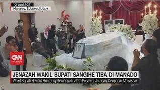 VIDEO: Jenazah Wakil Bupati Sangihe Tiba Di Manado