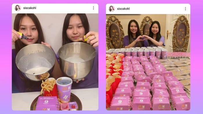 """Sisca Kohl juga sempat membuat kehebohan dikarenakan postingan video """"Tutorial Es Krim""""-nya yang menampilkan penampakan BTS Meal dengan jumlah yang banyak. Netizen pun langsung membanjiri komentar postingan Sisca Kohl ini. (instagram.com/siscakohl)"""