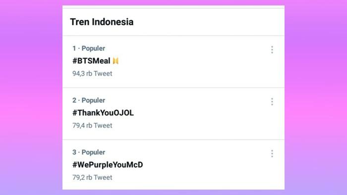 Viral di sosmed tanggal 10 kemarin, inilah 3 tagar yang menduduki posisi teratas di twitter. Hal ini mengingat komunitas ARMY Indonesia sangatlah besar jadi tidak heran jika momen satu ini langsung booming.
