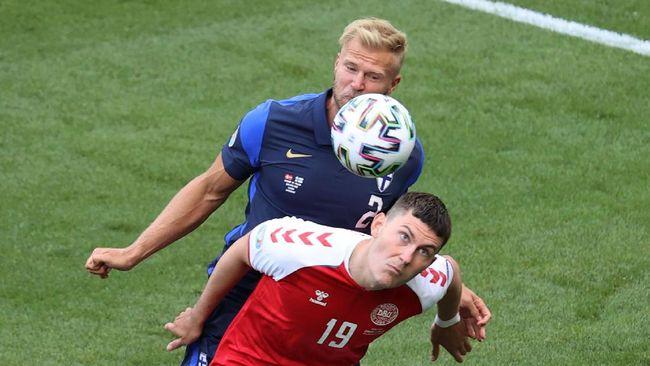 Denmark dan Finlandia dalam laga babak pertama Euro 2020 (Euro 2021) yang berlangsung di Stadion Parken, Kopenhagen, Sabtu (12/6) malam waktu Indonesia.