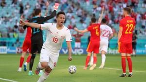 FOTO: Wales vs Swiss Berbagi Angka di Euro 2020