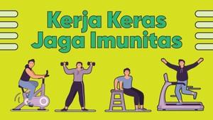 INFOGRAFIS: Kerja Keras Jaga Imunitas