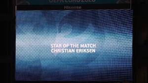 FOTO: Denmark Kalah, Eriksen Tetap Jadi Bintang