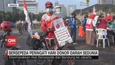 VIDEO: Bersepeda Peringati Hari Donor Darah Sedunia