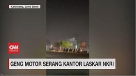 VIDEO: Geng Motor Serang Kantor Laskar NKRI
