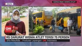 VIDEO: RS Darurat Wisma Atlet Terisi 75 Persen