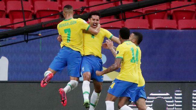 Timnas Brasil dan timnas Kolombia berhasil meraih kemenangan. Berikut klasemen Grup B Copa America 2021.
