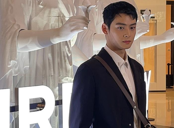 Yang lebih mengejutkan, foto-foto Cha Eun Woo yang diambil oleh pengunjung menggunakan kamera HP langsung viral di dunia maya. Melihat foto tanpa edit itu, visual Cha Eun Woo pantas jika diibaratkan seperti patung dewa Yunani / foto: naver.com/dieselmania