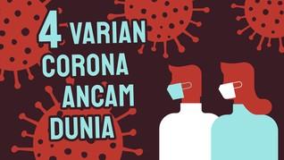 INFOGRAFIS: 4 Varian Virus Corona Ancam Dunia