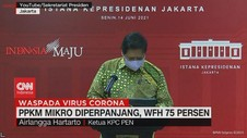 VIDEO: PPKM Mikro Diperpanjang, WFH 75 Persen