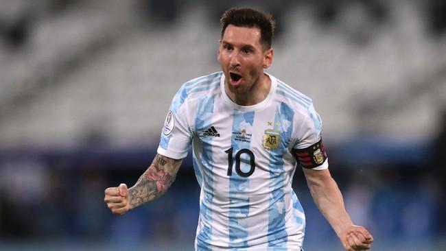 Messi Bawa Argentina Unggul 1-0 Atas Chile di Babak Pertama