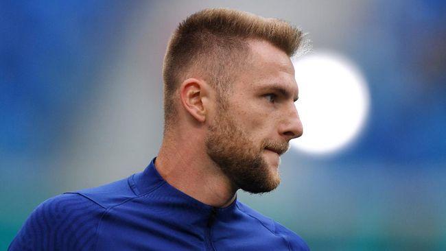 Gol Milan Skriniar pada menit ke-69 memberikan kemenangan pertama bagi Slovakia di Euro 2020 (Euro 2021) saat melawan Polandia, Senin (14/6).