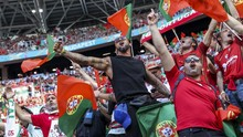 FOTO: Kemeriahan 60 Ribu Suporter di Hungaria vs Portugal