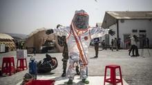 FOTO: Auman Latihan Militer Singa Afrika di Tanah Sengketa